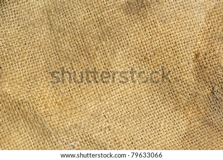 close up of sack texture