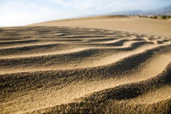 Close up of sand dunes