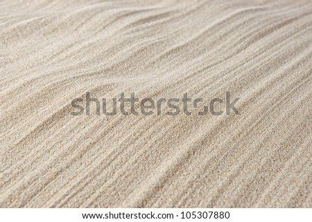Close up of sand pattern