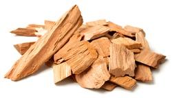 close up of sandalwood isolatd on the white background