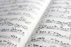 close-up of sheet music of a transcription of a jazz improvisation
