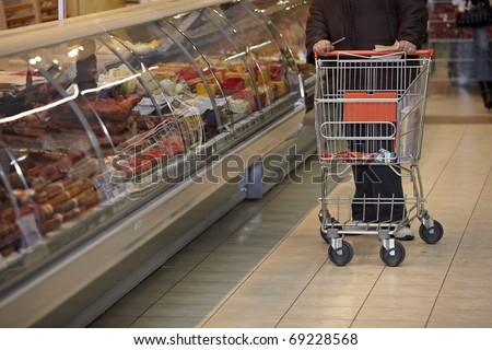 close up of shopping in a supermarket