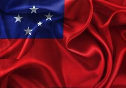 Close-up of silky Samoan flag