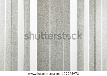 close-up of silver corrugated metal roof  texture