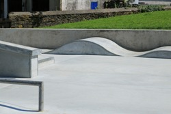 Close up of skate humps from a new skate park. Skate humps from a park in England.
