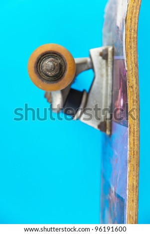 close up of skateboard wheel
