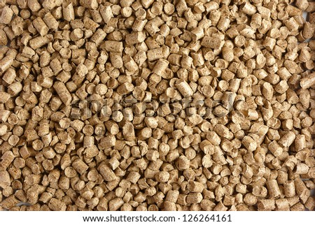 Close-up of small wood pellets