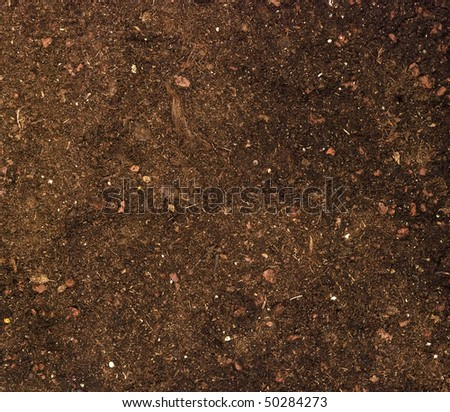 Close up of soil