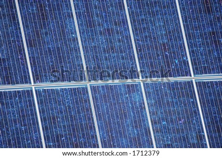 close up of solar array panel