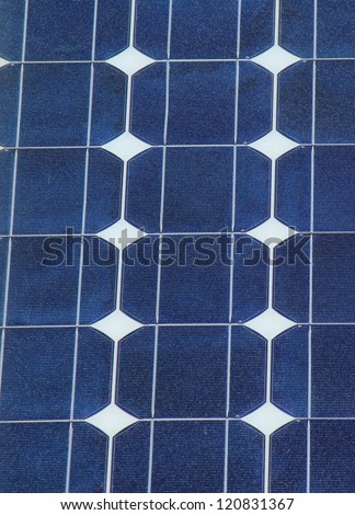 Close up of solar panel cells as texture