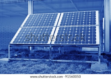 close up of solar water heaters, on the subtilis, is a clean new source of energy.