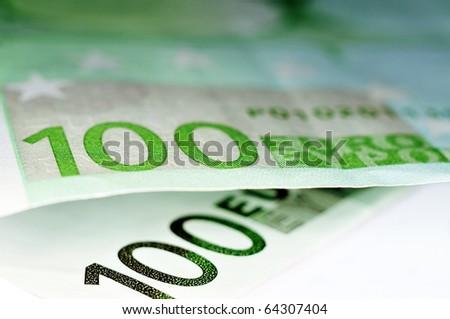 close up of some 100 euros bills