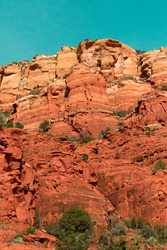 Close up of some rock formations in Sedona, Arizona