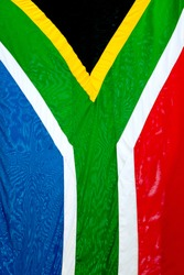 Close up of South African flag