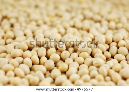 Close up of soy beans background
