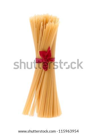 Close up of Spaghetti isolated on white background