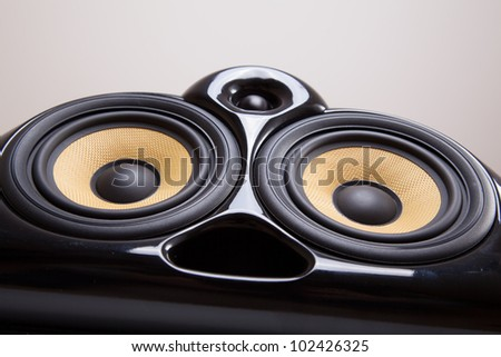 Close up of speakers