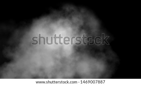 Close up of steam smoke on black background. Smoke stock image.Smoke cloud. Fog clouds, smoky mist and realistic cloudy effect. Condensation smoke effects, ashes mist texture or toxic gas.