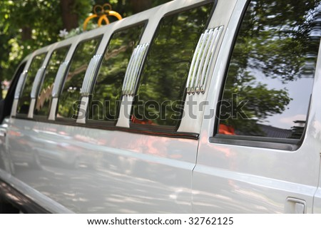 Close-up of stretch Limousine