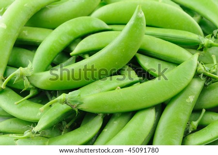 Close up of sugar snap peas