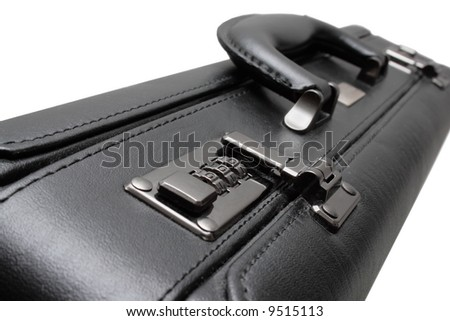 Close-up of suitcase's, focused on lock