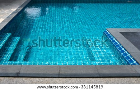 close up of swimming pool in the house