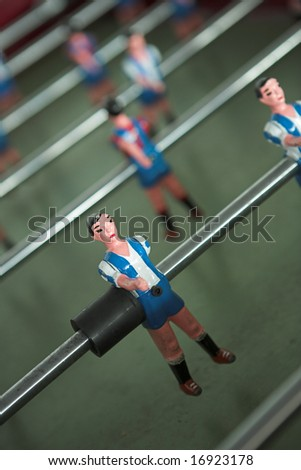 Close up of table football players - shallow dof