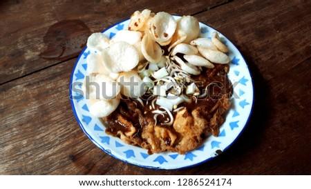 Close-up of Tahu Tek - special dish from Surabaya, Indonesia. Stok fotoğraf ©