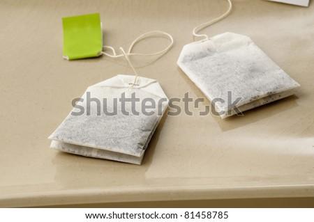 Close up of tea bag