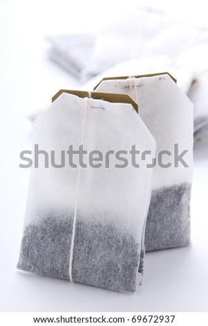 Close-up of tea bags