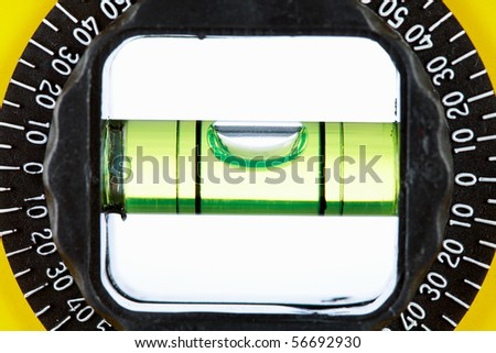Close-up of technical tool for defining flat level of surface - stock photo