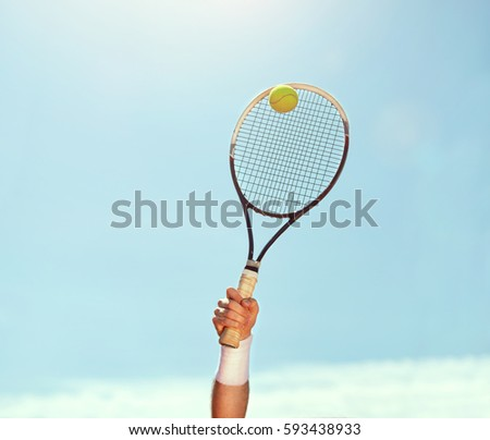 Close up of tennis racket