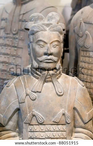 Close up of terracotta figure
