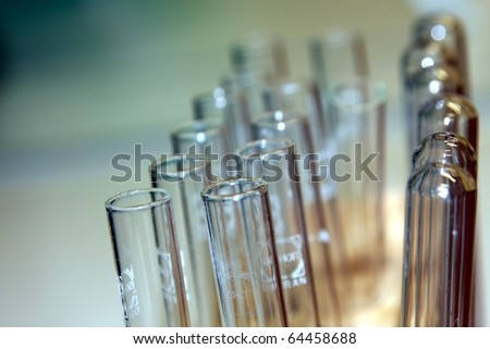 Close-up of Test Tubes in a Chemistry Lab