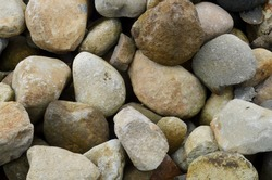 close up of texture background pile of river stone