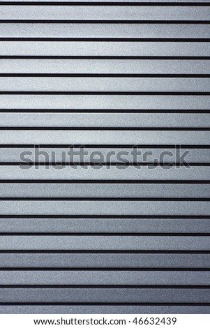Close up of the aluminium lines and stripes.