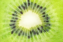 Close up of the centre of a kiwi fruit