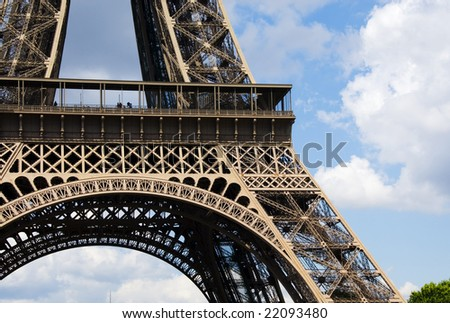 Picture Eiffel Tower on Close Up Of The Eiffel Tower  Stock Photo 22093480   Shutterstock