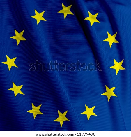 Close up of the European Union flag, square image