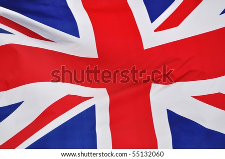 Close up of the Flag of Great Britain