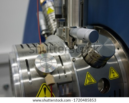 Close-up of the front part of the mass spectrometer