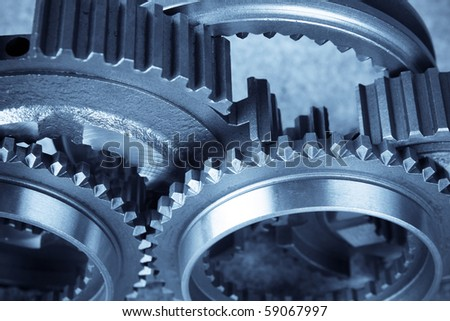 close up of the gears(teamwork concept)