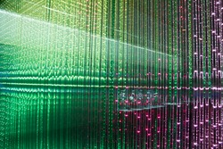 Close-up of the Matrix of a Screen made of multiple LEDs