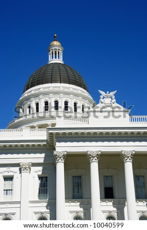 Close-up of the Sacramento Capitol building, California, USA. #10040599