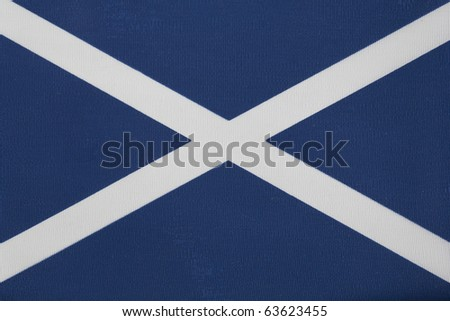 Close up of The Scottish Flag of St Andrew