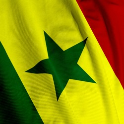 Close up of the Senegalese flag, square image