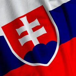 Close up of the Slovakian flag, square image