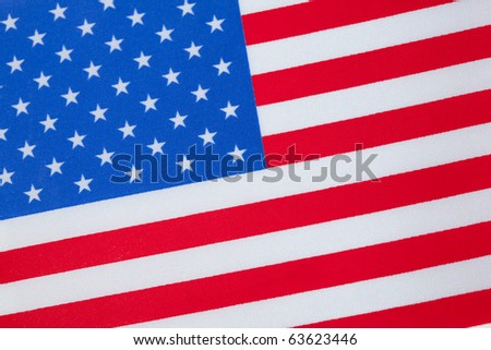 Close up of the United States of America Flag