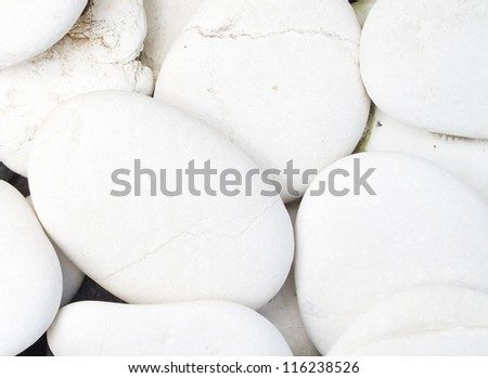 close-up of the white pebbles