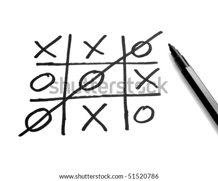 close up of tic tac toe leisure game